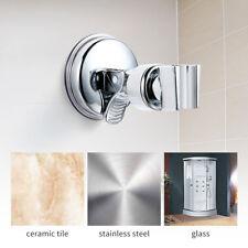 Shower Handset Holder Head Chrome Bathroom Wall Mount Adjustable Suction Bracket