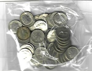 US $5.00 FACE SILVER Roosevelt DIMES - Dated 1964 OR BEFORE - 50 COINS TOTAL