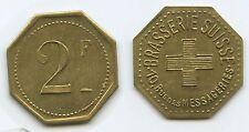 M416 - Frankreich France Jeton Paris 2 Francs Brasserie Suisse Schweiz
