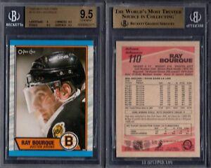 BGS 9.5 1989-90 O-Pee-Chee #110 Ray Bourque POP1 Boston Bruins G00 1824