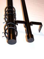 19/19mm Double Layer Matt Black Curtain Pole End Cap Finials 1.2m 1.5m 2.4m 3m