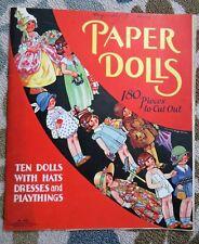 VINTAGE CORINNE RINGEL BAILEY PAPER DOLLS BOOK - 1934 SAALFIELD CO.