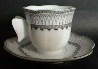 Vintage, AI Design, Demitasse Cup & Saucer, Bavaria Germany Butterfly Handle.