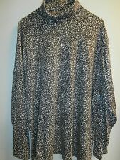 Fashion Bug Women's Leopard Print Knit Top SZ 18/20W NWOT