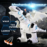 Electric Interactive Dinosaur Model Electronic War Dragon Light Sounds Robot Toy
