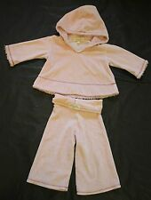Luna Luna Copenhagen Pink Velour Warm Soft Lounge Pant Top Set Baby Girl 6 mo