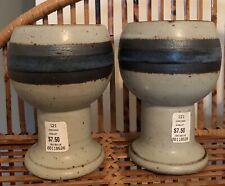 Vintage 70's Otagiri Horizon Pattern Goblets - Pair
