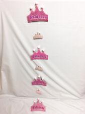 Girl's Hanging Room Decor Decoration Sparkle Pink Princess Dangle Tiara Crown