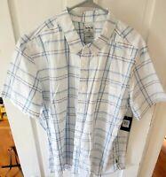 NWT Hurley Frankie Stretch Mens XXL 2XL Short Sleeve Button Up Shirt Brand New