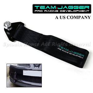 FOR GMC ONLY!JDM STYLE 14MM ALLOY BOLTS FRONT TOW TOWING STRAP FRAME METAL BLACK