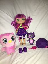 "7"" Plush Little Charmers Pet Owl Treble And Hazel Doll& Seven Lot"