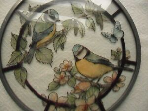 Painted Leaded Glass Window Hanging Decoration