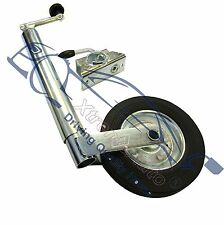 48mm Jockey Wheel Med Duty and Clamp Trailer Caravan Stand Wind up Trailor Boat