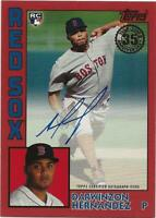 2019 Topps Update DARWINZON HERNANDEZ 1984 Topps Auto RED /25 Autograph Red Sox