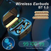 Bluetooth 5.0 Headset Wireless Earphones Earbuds Stereo Sport Noise Reduction