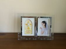 First Communion Day Deepset Double Photo Frame or with Verse-Clear Glass Gift