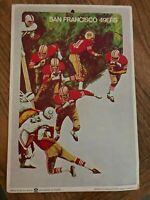 Vintage - Big Signs by Fleer NFL San Francisco 49ers - 1968 Poster Card/Sign