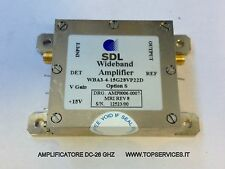 MICROWAVE AMPLIFIER DC-26 GHZ BROADBAND