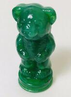 "Vintage Boyd Andy Panda Bear Glass Moss Green Full Body Bear Figure 3"" Tall"