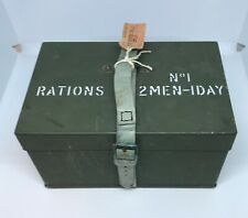 British Armoured Fighting Vehicle (AFV) Ration Box No. 1 Mk 1, 2 Men - 1 Day