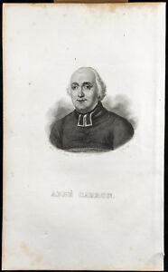 Porträt (1834) - Abbé Carron (Guy-Toussaint-Julien) - Rentier - Gravur