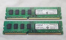 Crucial 8GB (2x4GB) RAM PC3-10600 DDR3-1333 DDR3 CT51264BA1339.M16FD   T7A