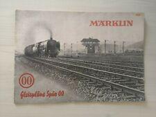 Catalogue Marklin 763 Gleisplane OO 1ere version plan de réseau