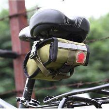 NOUVEAU tendance vert toile bicyclette vélo Selle arrière Sac Queue Sac à outils