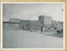 Zuni Pueblo and 2 Indian girls, Native American Indian, Albuquerque, NM 1940's