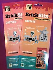 BrickStix Castles Reusable Stickers 2 Pack