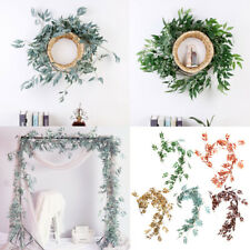 Artificial Rattan Willow Vine Garland Silk Greenery Leaves Home Wedding Decor