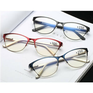 Stainless Cat eyes Ladies Reading Glasses Women Fashion Magnifier  +1.0 to +3.5