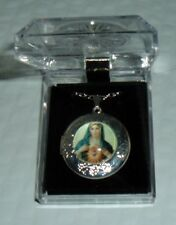 IMMACULATE HEART OF MARY LOCKET w/ 20in chain Gift Boxed Christmas Gift NEW PICS