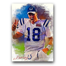 Peyton Manning #38 Sketch Card Limited 40/50 Edward Vela Signed