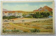 1938 LINEN POSTCARD ARIZONA BILTMORE HOTEL CAMEL BACK PHOENIX AZ #x7