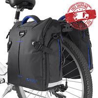 BV Bike Commuter Bag Cycling Panniers Rear Storage w/ Rain Cover (Pair) NEW BA3