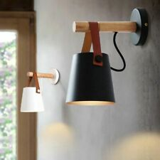 Modern Nordic Style Wood Wall Lamps Bed Bedside Light Lampshade Home Decoration