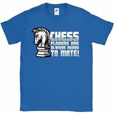 Chess Players Are Always Ready To Mate Knight Horse Mens T-Shirt