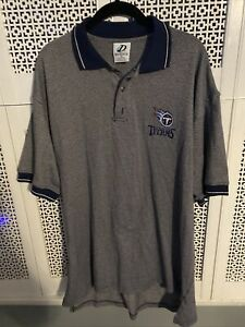 Vintage Tennessee Titans Dynasty Embroidered Logo NFL Polo Shirt SZ XL