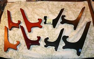 """Plate Rack Display Stands Lot of Eight (8) Assorted Sizes 7"""" to 12"""" Used Free SH"""