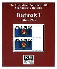 Brusden White - Australia 1966-1975 Decimals I Stamp Catalogue 436 Pages