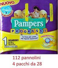 Pampers progrès 112 Couches nouveau-né tg.1 (2-5 Kg) 4 paquets da 28 pcs