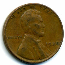 1938 P WHEAT PENNY 1 Cent KEY DATE US CIRCULATED ONE LINCOLN RARE CENT COIN#1008