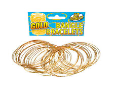 GOLD #BANGLE ADULT DISCO BRACELET 50 PIECES FANCY DRESS OUTFIT ACCESSORIES