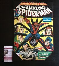 Stan Lee SIGNED The Amazing Spider-Man 135 comic wooden wall art JSA Certified