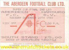 Reproducción 1983 Aberdeen Hamburger SV Super Copa Final billete [RMT]