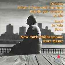 DEBUSSY Prelude-Rapsodie-La Mer/RAVEL La Valse-Bolero (CD 1997) Masur EXCELLENT