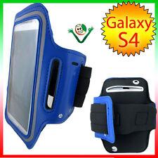 Armband fascia braccio Sport per Samsung Galaxy SIV i9505 S4 custodia BLU cover