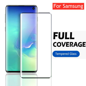Curved Tempered Glass Screen Protect Film For Samsung S10 S20 S9 S8 Note 20 Plus