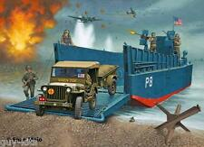 Barge US LCM 3 + Jeep + Remorque + Figurines, WW2 - KITS REVELL 1/35 n° 3000